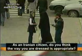 Islamic dresscode enforced on streets of Teheran