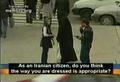Islamic dresscode enforced on streets of Teheran