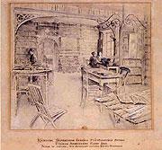 Braunerová Zdeňka - Interiér knihovny