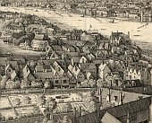 The section from 'The long bird's eye view of London', 1647