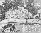 Map View of London, 1666