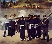 The Execution of the Emperor Maximilian of Mexico by Edouard Manet
