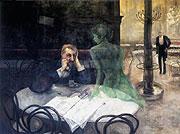 Viktor Oliva - 'Absinthe drinker'