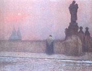 Jakub Schikaneder: Früher Abend auf dem Hradschin