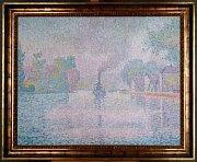 Paul Signac, 'Steamboat on the Seine'