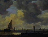 Jan van Goyen: Wachtürme in der Flussmündung