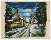 Maurice de Vlaminck, 'Way through the french village'