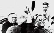 Anton Cermak with President Franklin D. Roosevelt, moments before being shot