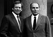 Václav Havel and Francois Mitterrand (right)