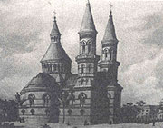 The orthodox church in Černovce (Armenia) built according the Hlávka's project