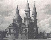 The orthodox church in Černovce (Armenia) built according the Hlávka's project