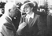 Edvard Beneš y Milada Horáková