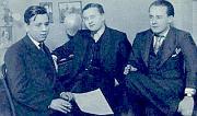 Zleva: Ježek, Werich, Voskovec