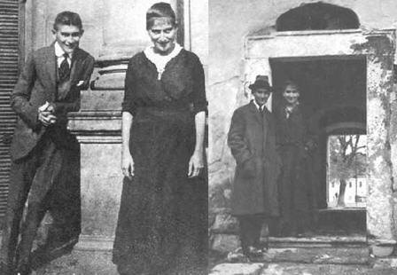 Franz Kafka with his sister Ottla