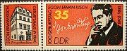 Egon Erwin Kisch und sein Geburtshaus in Prag (DDR-Briefmarke)