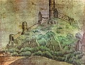 A painting of Bezděz by K. H. Mácha