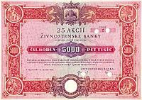 Živnostenská Banka share, 1933
