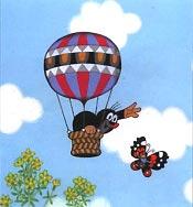 Maulwürfe können natürlich gar nicht mit Heißluftballons rumfliegen.