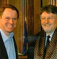 Vorsitzender der Grünen Martin Bursik (links) und Milan Horacek