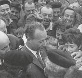 Alexander Dubcek im Jahre 1968 in Bratislava