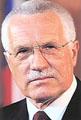 Le Président Vaclav Klaus