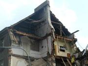 Дом в пражском районе Карлин после наводнения
