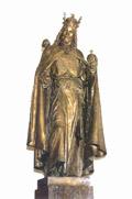 Socha Karla IV. zčela velké auly Karolina, foto: Jiří Ployhar