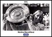 Martina Navrátilová, tarjeta QSL 2008