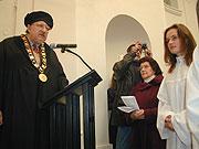 Diakonin Hana Karasova und Dozent Jan Lasek von der hussitischen theologischen Fakultät