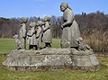 'The Grandmother' sculptural group by O. Gutfreund