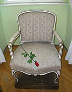 The chair upon which Casanova died