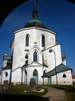 The church of Saint John of Nepomuk on Zelená Hora, photo: Zdeňka Kuchyňová
