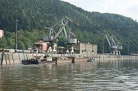 Güterhafen in Děčín (Foto: Daniel Kortschak)