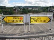 Rozcestí u Schengenu (Foto: Pavel Novák)