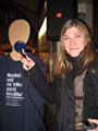 Редактор Радио Прага Татьяна Кржелинова на покозе мод в пассаже «Люцерна»