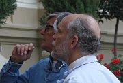 John Malkovich and Jiří Bartoška