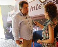 Виталий Манский и редактор Радио Прага Лорета Вашкова, Фото: архив Лореты Вашковой