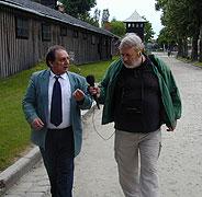 Zdeněk Bouček (napravo) v rozhovoru s panem Absolonem (Foto: Jana Šustová)