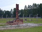 Zbytek pece bývalého dřevobaráku v Osvětimi - Březince