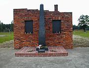 Památník obětí romského holocaustu v Osvětimi-Březince (Foto: Jana Šustová)
