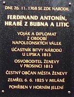 Pamětní deska na zámku v Zámrsku, foto: Miroslav Krupička / Český rozhlas - Radio Praha