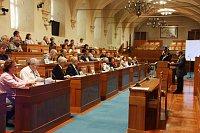 Konference omigraci se konala vJednacím sále Senátu PČR
