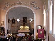 Interiér českého kostela vKruščici, foto: Autorka