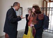 Zmocněnec pro krajanské záležitosti MZ Vladimír Eisenbruk a Lucie Slavíková Boucher(vpravo), foto: autorka