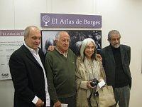 Hernán Lombardi, Juan Goytisolo, María Kodama y Mario Sabato