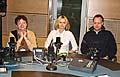 Vladimíra Dvořáková (vlevo) a Jan Bureš ve studiu s Martinou Lustigovou