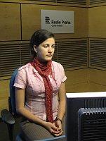 Rosa María Payá en Radio Praga (2013), foto: Jiří Němec