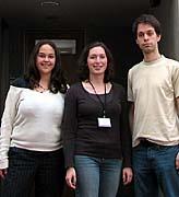 Von links: Natalie Glück, Kathrin Freier und  Jan Polivka (Foto: Autor)