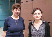 Praneteř Lebedy Eduarda Lipanská (vlevo) akurátorka výstavy Veronika Hulíková, foto: autorka