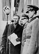 František Kocourek během vojenské přehlídky na Václavském náměstí